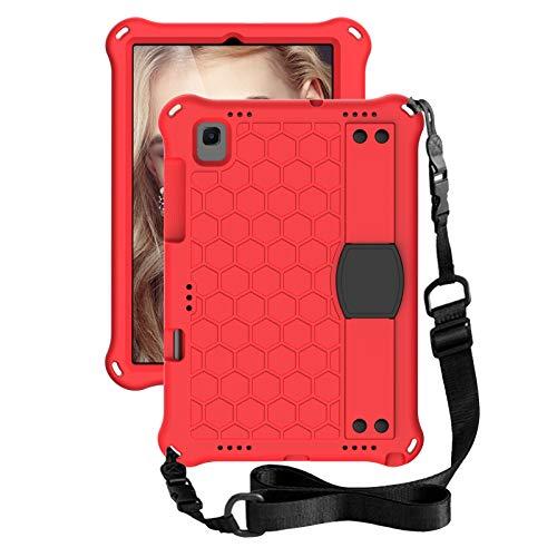 FSCOVER Funda Anticaída para Samsung Galaxy Tab A7 10.4 2020, Carcasa Robusta Antichoque con Correa de Mano/Hombro para Samsung Galaxy Tab A7 T505/T500/T507 10.4 2020, Rojo