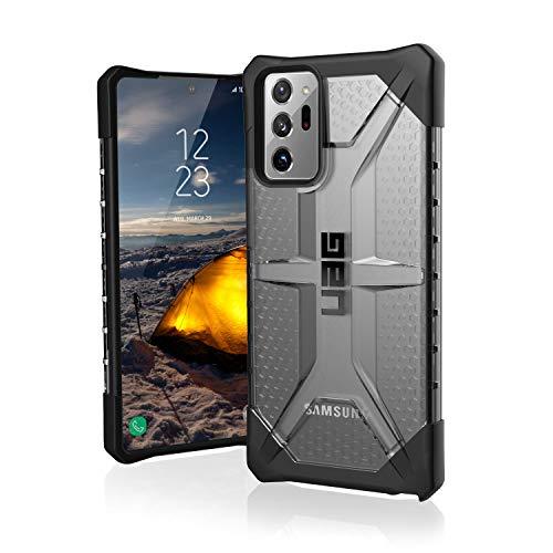 Urban Armor Gear Plasma Hülle für Samsung Galaxy Note 10 Handyhülle nach US-Militärstandard (Qi kompatibel, Sturzfest, Vergrößerte Tasten) - transparent (dunkel)