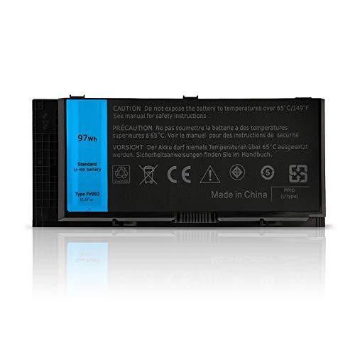 ANTIEE 97WH FV993 Laptop Battery for Dell Precision M4600 M4700 M4800 M6600 M6700 M6800 Series Notebook FJJ4W R7PND X57F1 PG6RC V7M28 KJ321 11.1V 9Cell