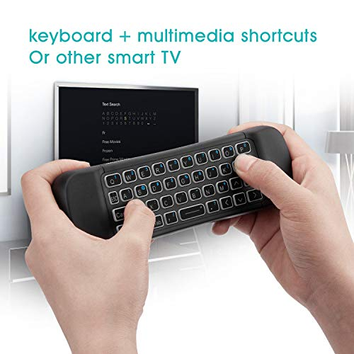 Rii MX6 2.4G Hintergrundbeleuchtung Air Mouse+Wireless Keyboard+6Achsen Somatosensory Fernbedienung +Microphone+IR Lernen Tasten 5 in1 für Mini PCs/Smart TV/Android TV Box/Raspberry Pi(US Layout)