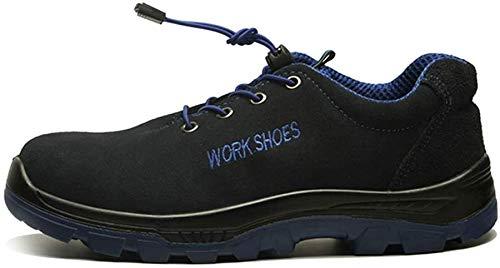 eamqrkt Verano Hombre Exterior Zapatos Malla Transpirable Antideslizante Luz Cómodo Protección Seguridad - Estilo A, 11