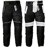 German Wear–Pantalones de motorista Cordura Textiles Pantalón de Motorista Combi Pantalón, negro/gris