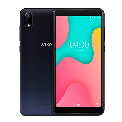 WIKO Y60, 16GB+1GB Smartphone 5,45 Zoll (13,8cm) 18:9 Display, 4G, Android 9.0 Pie Go, Anthracite Blue