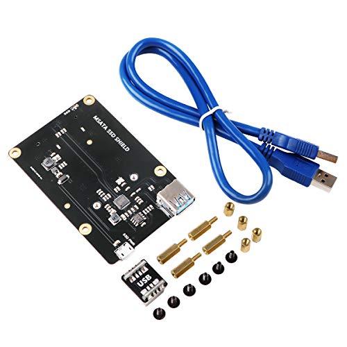MakerHawk Raspberry Pi X850 mSATA SSD Speichererweiterungsplatine Neue Upgrade-Version für Raspberry Pi 3 Modell B / 2B / B +