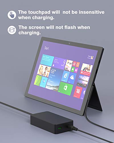 Professional 60W 15V 4A Charger for Microsoft Surface Pro 5/6/7/X, Surface go/go 2, Surface Laptop/Laptop 2/Laptop 3, Surface Book, 6ft DC Cord