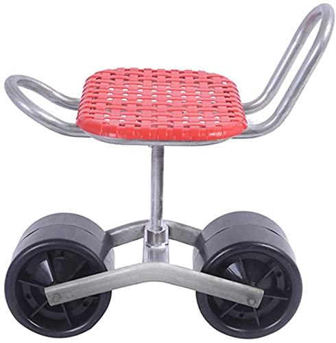 Eeayyygch Taburete de jardín con ruedas con asiento para jardín al aire libre