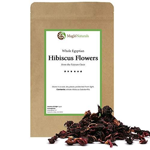 Hibiscus Tea 1LB (16Oz) Dried Hibiscus Flowers Herbal Tea (Whole Flower)