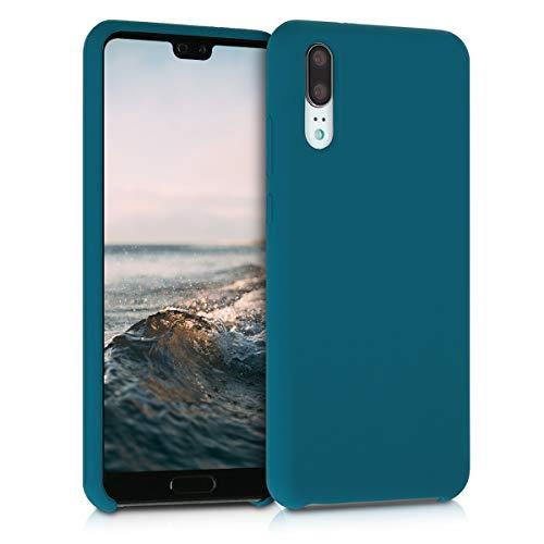 kwmobile Coque Compatible avec Huawei P20 - Housse de téléphone Protection Souple en TPU Silicone - pétrole Mat