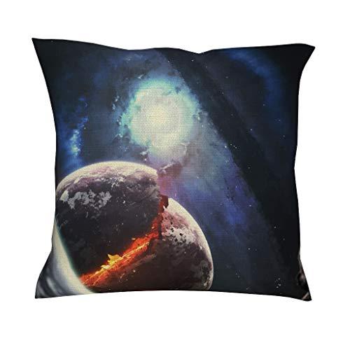 Space, Rocket, Planet, Universe, Spaceship Supersoft meerdere patronen decokussensbank met verborgen ritssluiting voor bank elegante stijl Rocket