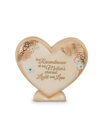 Pavilion Gift company 19052 Light Your Way Memorial Mother's Light and Love Plaque, 4-Inch