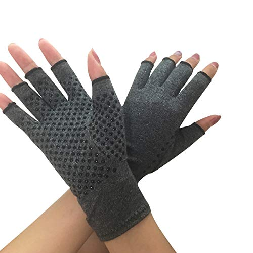 Donnagelia Anti-Arthritis Handschuhe Kompressionshandschuhe Fingerfrei für Gelenke-Unterstützung, Schmerzlinderung, Wärmewirkung, S/M/L