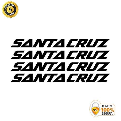 Pegatinas para Bici - Sticker Decorativo Bicicleta - Juego de Adhesivos en Vinilo para Bici Santa Cruz 4 Pegatinas Cuadro Bici