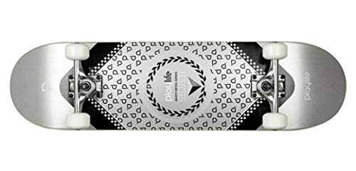Playlife Heavy Metal Silver Skateboard