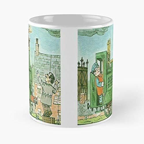 Box Cutout Book Ivor DVD Engine Set Phone Vintage Cardboard Best 11 Ounce Ceramic Coffee Mug Best 11 oz Taza de café - Tazas Nespresso Tazas Café Motivos