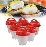 BAOZAI Silicone Egg Boil - Cocedor de huevos duro y suave, sin cáscara, silicona antiadherente, hervidor de huevos
