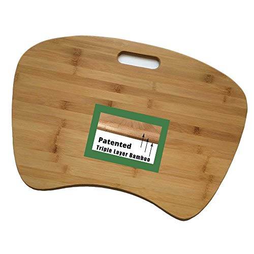 Green Sphere Bamboo Lap Desk Virtually Indestructible for Working in...