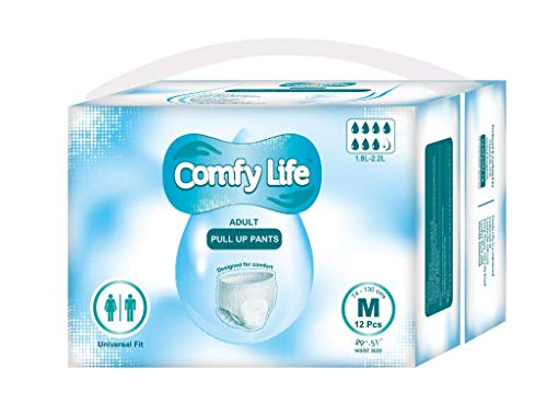 ComfyLife Premium Incontinencia Para Adultos Panales Pull Up Diaper Pants - Talla Media 12...