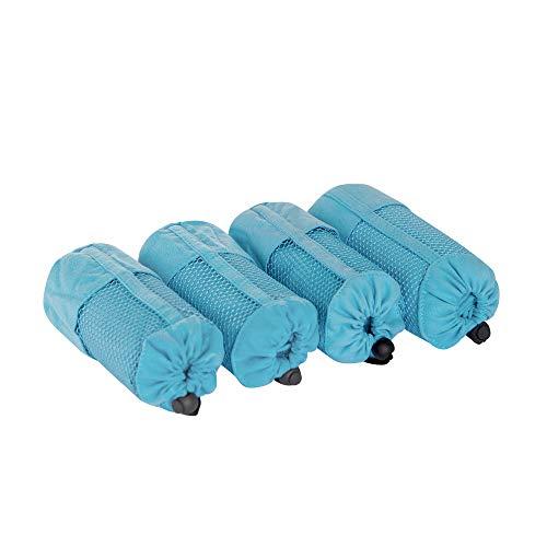 Deconovo Duschtuch 4 Pack Sporttuch Handtuch Mikrofaser 100x50 cm Himmelblau