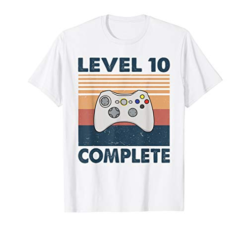 Level 10 Complete - Vintage 10 Year Wedding Anniversary Gift T-Shirt