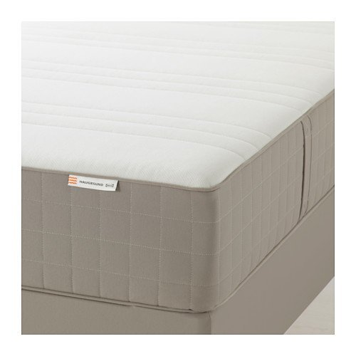 IKEA HAUGESUND Spring Mattress (Twin Size), Firm, Dark Beige 1428.22314.630