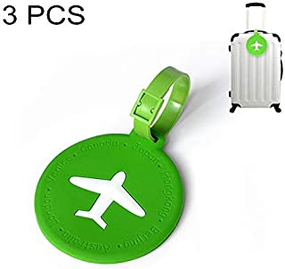 f08c5cf3a9b3 Perfect House Morden Round PVC Luggage Tag Travel Bag Identification Tag 3  PCS Gift