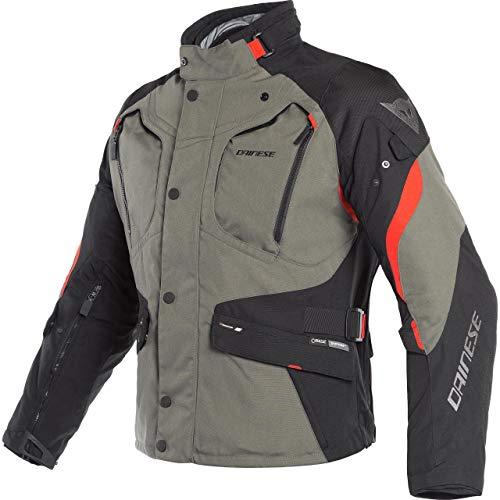 Dainese Motorradjacke mit Protektoren Motorrad Jacke Dolomiti GTX Textiljacke schwarz/grün/rot 54, Herren, Tourer, Ganzjährig
