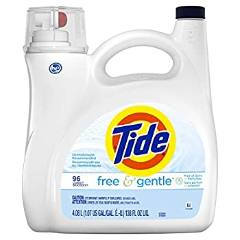 Tide Free & Gentle Liquid Laundry Detergent 96 Loads 138 Fl Oz