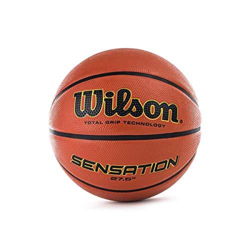 Wilson WTB9118XB0701 Pelota de Baloncesto Sensation Caucho Interior y Exterior, Unisex-Adult, Naranja, 7
