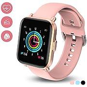 HolyHigh Smartwatch Fitness Tracker mit 1,3'' Farb Touchscreen Fitnessuhr mit Herzfrequenz- und Schlafmonitor Stoppuhr Schrittzähler IP68 Wasserdicht 10 Tage Akkulaufzeit für Männer Frauen