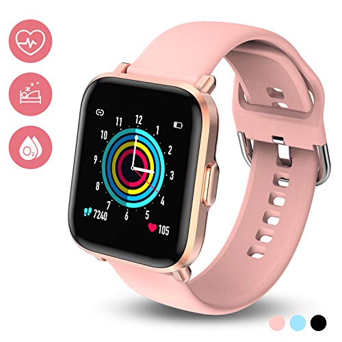 HolyHigh Smartwatch Reloj Inteligente Mujer Hombre