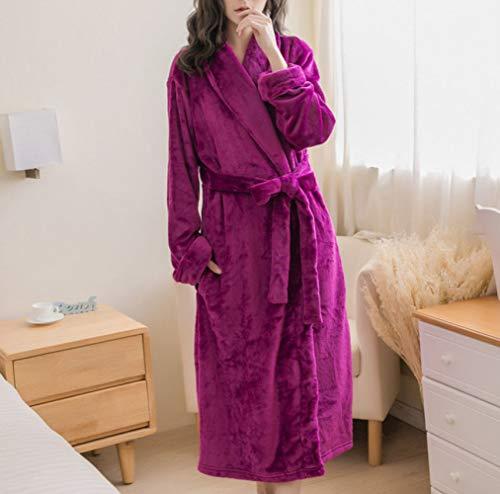 YIWANGO Pijama Mujer Otoño/Invierno Bata De Baño
