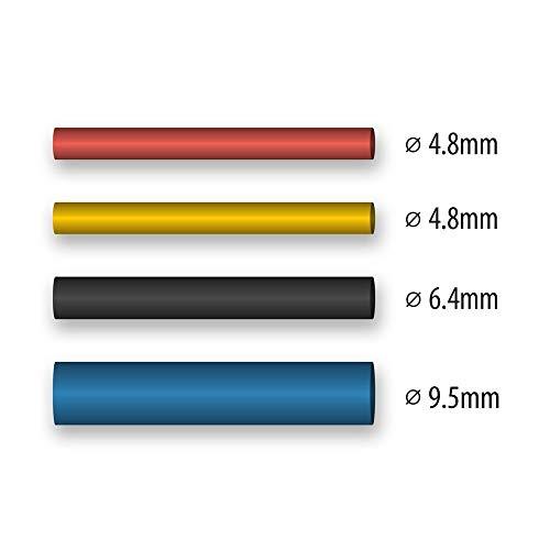 WAGNER Schrumpfschlauch-Set für FURNO Heißluftpistolen - zum Verschrumpfen von Leitungen, 8 x ᴓ 4, 8 mm/ 8 x ᴓ 6, 4 mm, 8 x ᴓ 4, 8 mm/ 8 x ᴓ 9, 5 mm