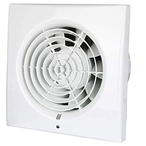 YKAMM Extractor silencioso Ventilador de Escape Hogar Hotel Ventanas de Vidrio Colgar en la Pared Cocina Baño Inodoro Ventilación Ventilador de Escape