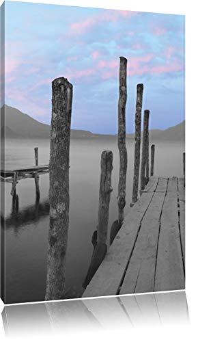 verschillende promenades aan het meerFoto Canvas | Maat: 120x80 cm | Wanddecoraties | Kunstdruk | Volledig gemonteerd
