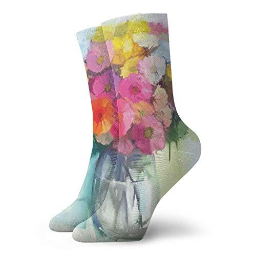 Calcetines suaves de longitud media pantorrilla, flores de verano recién recogidas en...