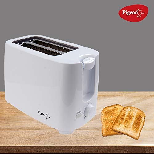 Pigeon by Stovekraft 2 Slice Auto Pop up Toaster. A Smart Bread Toaster for Your Home (750 Watts)
