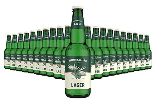 MOOSEHEAD® - Kanadisches Lagerbier Flasche [24er Pack] 24 x 350ml Bier, Canadian Beer | Moosehead Breweries Beer als Original Importware, auch als perfektes Bier Geschenk für Männer (inkl. Pfand)