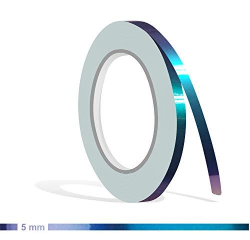 Siviwonder Zierstreifen Shift Effect Marine blau violett Glanz in 5 mm Breite und 10 m Länge Aufkleber Folie für Auto Boot Jetski Modellbau Klebeband Dekorstreifen - Flip Flop Autofolie Farbwechsel