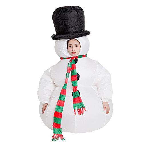 Disfraz de mueco de Nieve Inflable, Disfraz de Yeti de mueco de Nieve Abominable, Divertido, Talla nica