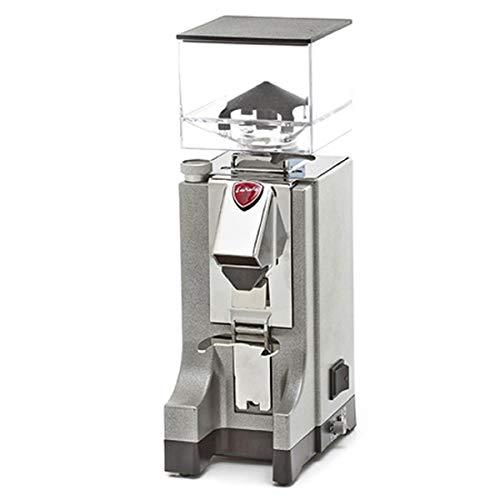 EUREKA CD Mignon Silver Argent Elektronische Kaffeemühle, Aluminium, 1 Liter, Silber