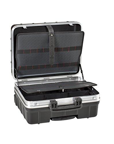 GT Line ATOMIKWHPEL Maleta portaherramientas con elásticos fabricada en polipropileno (interior 465 x 352 x 255 mm), Negro