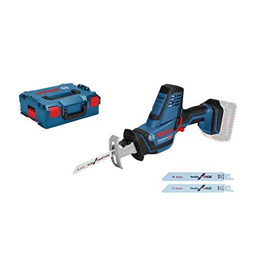 Bosch Professional 18V System Akku Säbelsäge GSA 18V-LI C (inkl. 3x Säbelsägeblatt, ohne Akkus und Ladegerät, in L-BOXX 136)