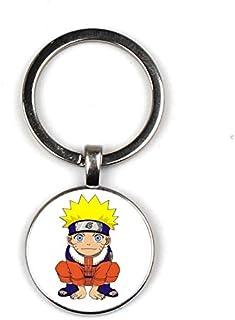 Naruto Glas Schlüsselbund Cartoon Anime Naruto Sasuke Kakashi Schlüsselanhänger Cute Naruto Exquisite Fashion Bag Car Keychain