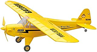 RC Plane Piper J-3 Cub EP Fixed Wing Exercise Beech Wood Airplane Electric Plane Remote Control Aircraft with 400 Brushed Motor