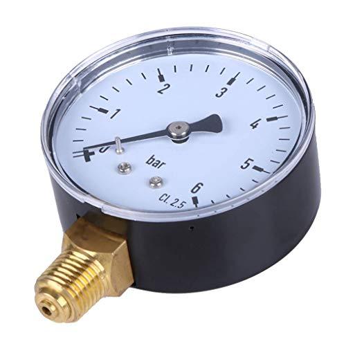 """Fornateu 0-6bar 1/4"""" NPT Gewinde Manometer Seitendruck Meter hohe Mount Manometer Zifferblatt für Kraftstoff Luft Öl Wasser-Druck-Messwerkzeugen"""