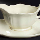 Queen's Plain Gravy Boat & Underplate by Wedgwood | Replacements, Ltd.