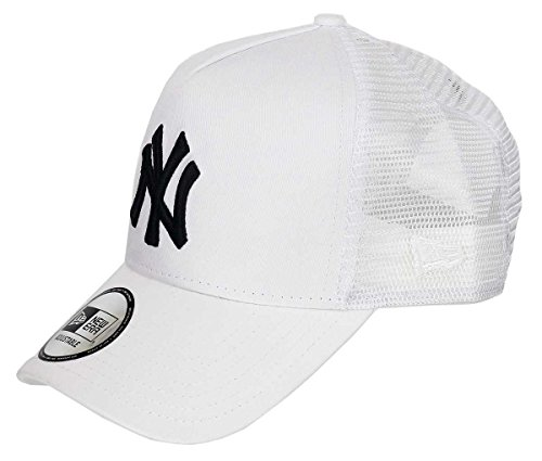 New Era New York Yankees A Frame Trucker Cap Black White Edition White - One-Size
