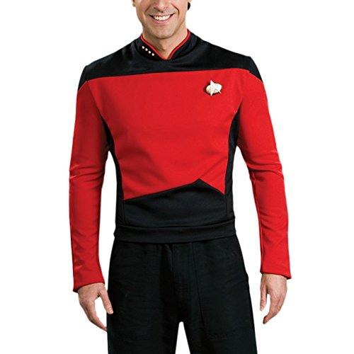 Star Trek - Shirt Rouge Deluxe - Uniforme Starfleet Adulte - M