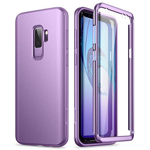 SURITCH Funda para Samsung Galaxy S9 Plus Silicona 360 Grados Bumper Flexible TPU Elegante Delantera y Trasera Irrompible Anti Choque Caso Carcasa Samsung Galaxy S9 Plus(púrpura)