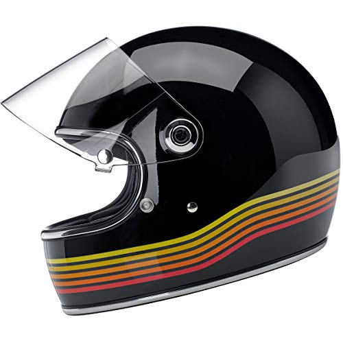 Biltwell Gringo S - DOT/ECE Helmet - Gloss Black Spectrum - X-Large